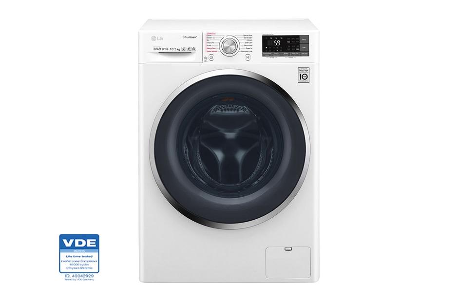 Mesin Cuci LG 10,5 kg, Front Loading - dengan TrueSteam
