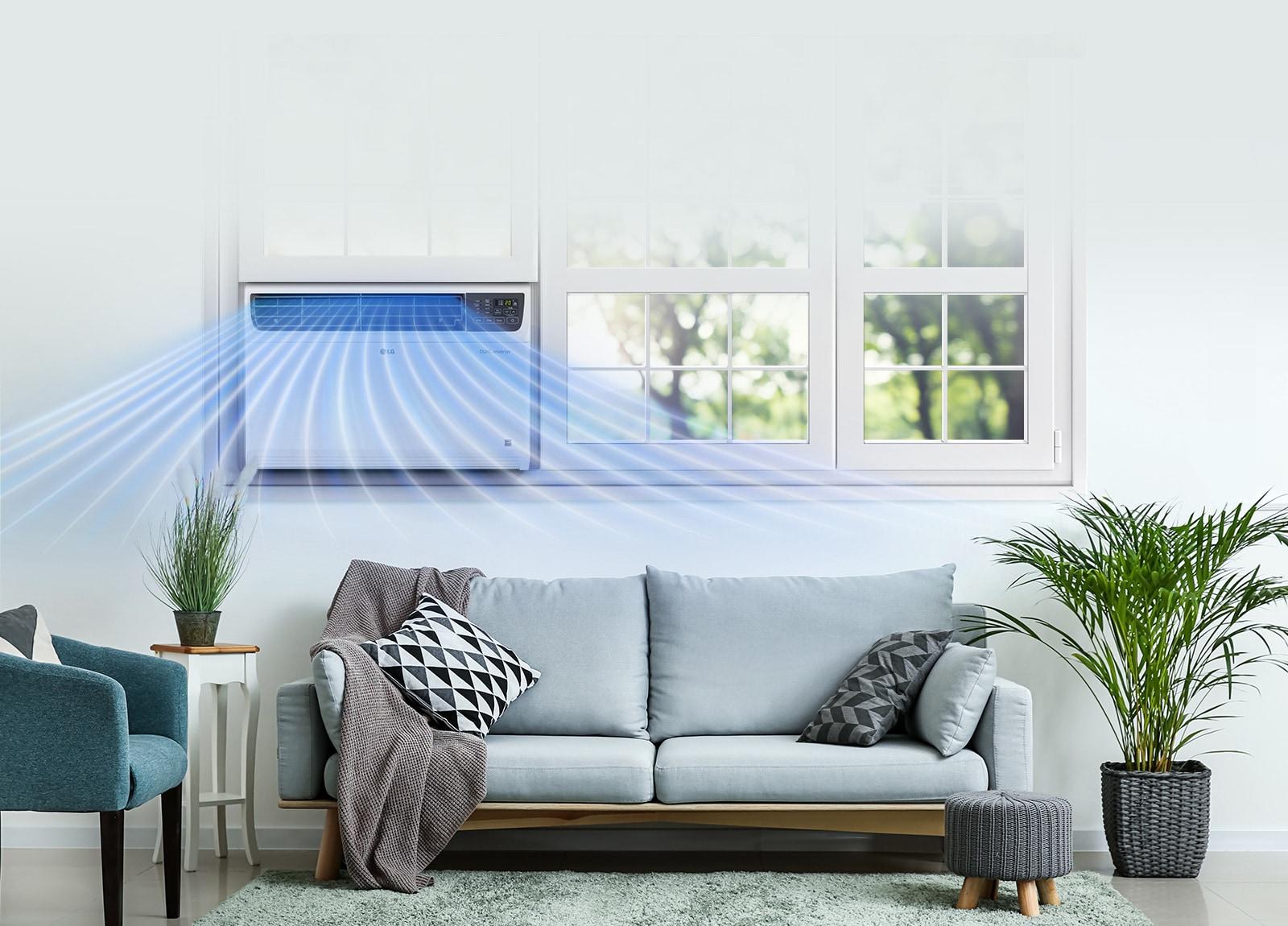 LG JW-Q18WUXA1 maximum cooling
