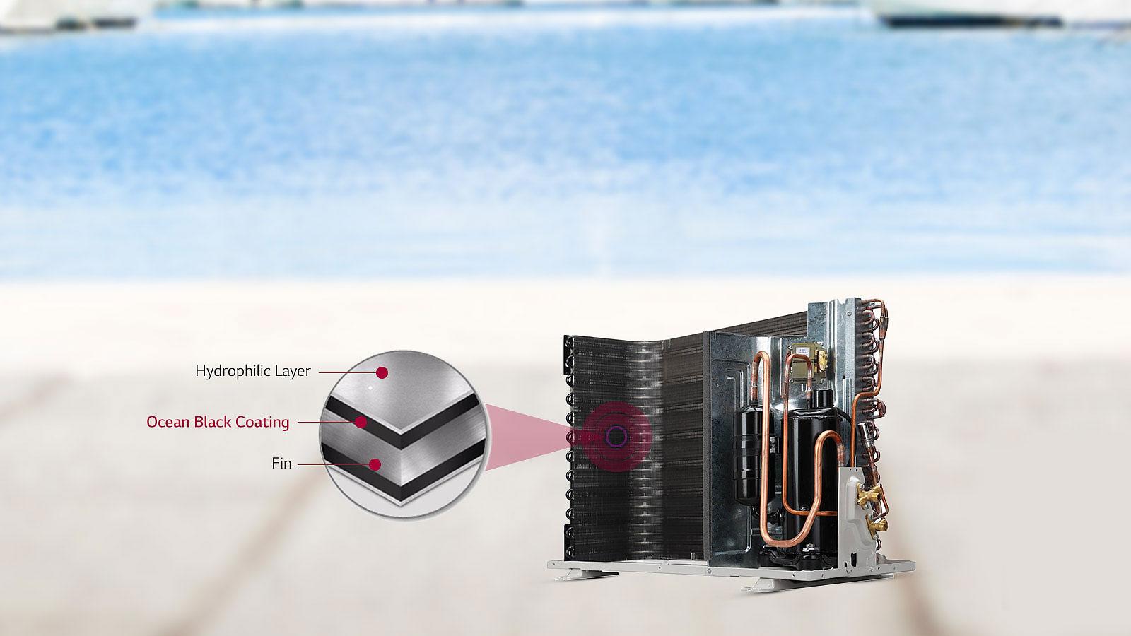 LG MS-Q18HNYA Ocean Black Fin