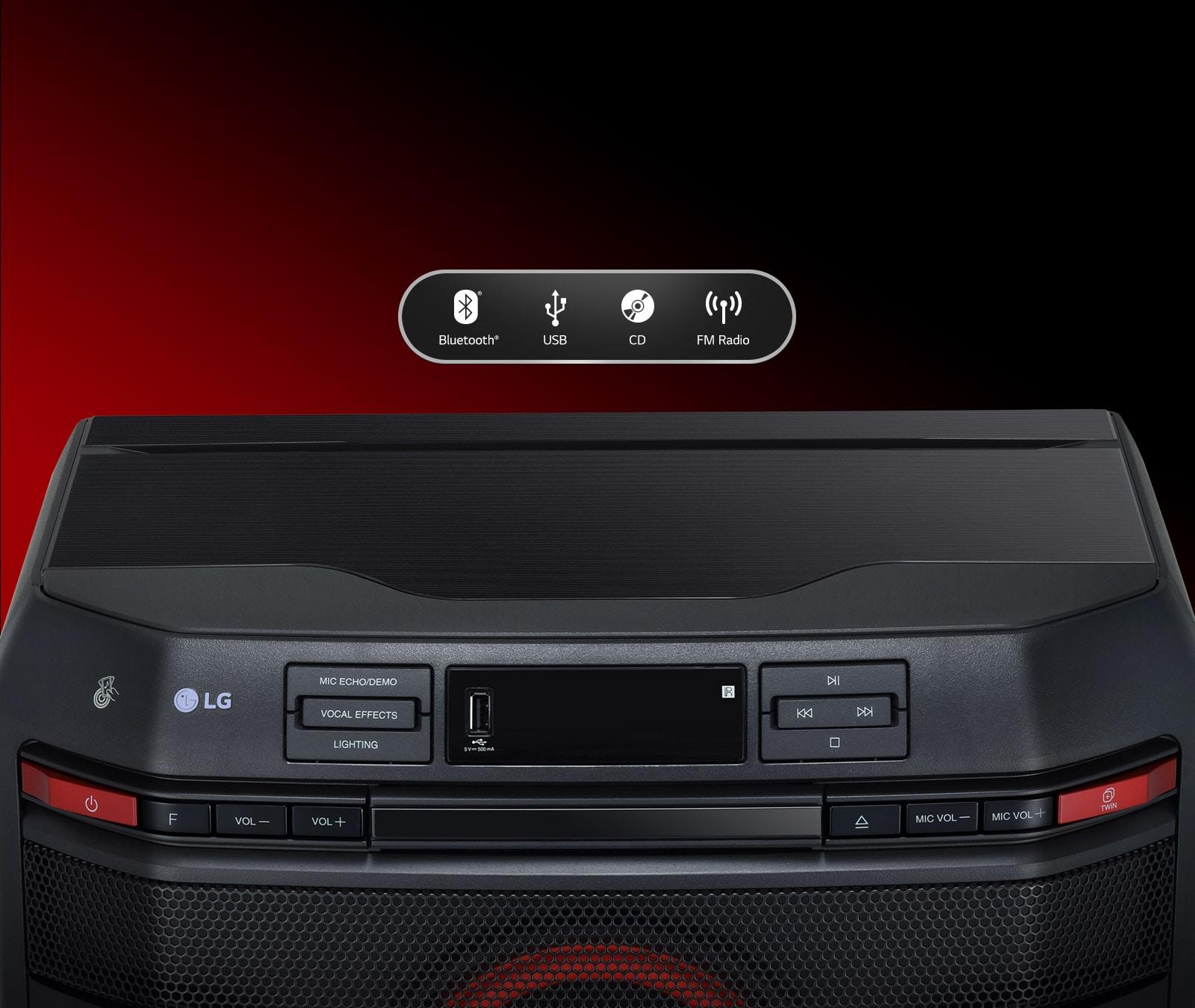 LG XBOOM OL45 Connectivity