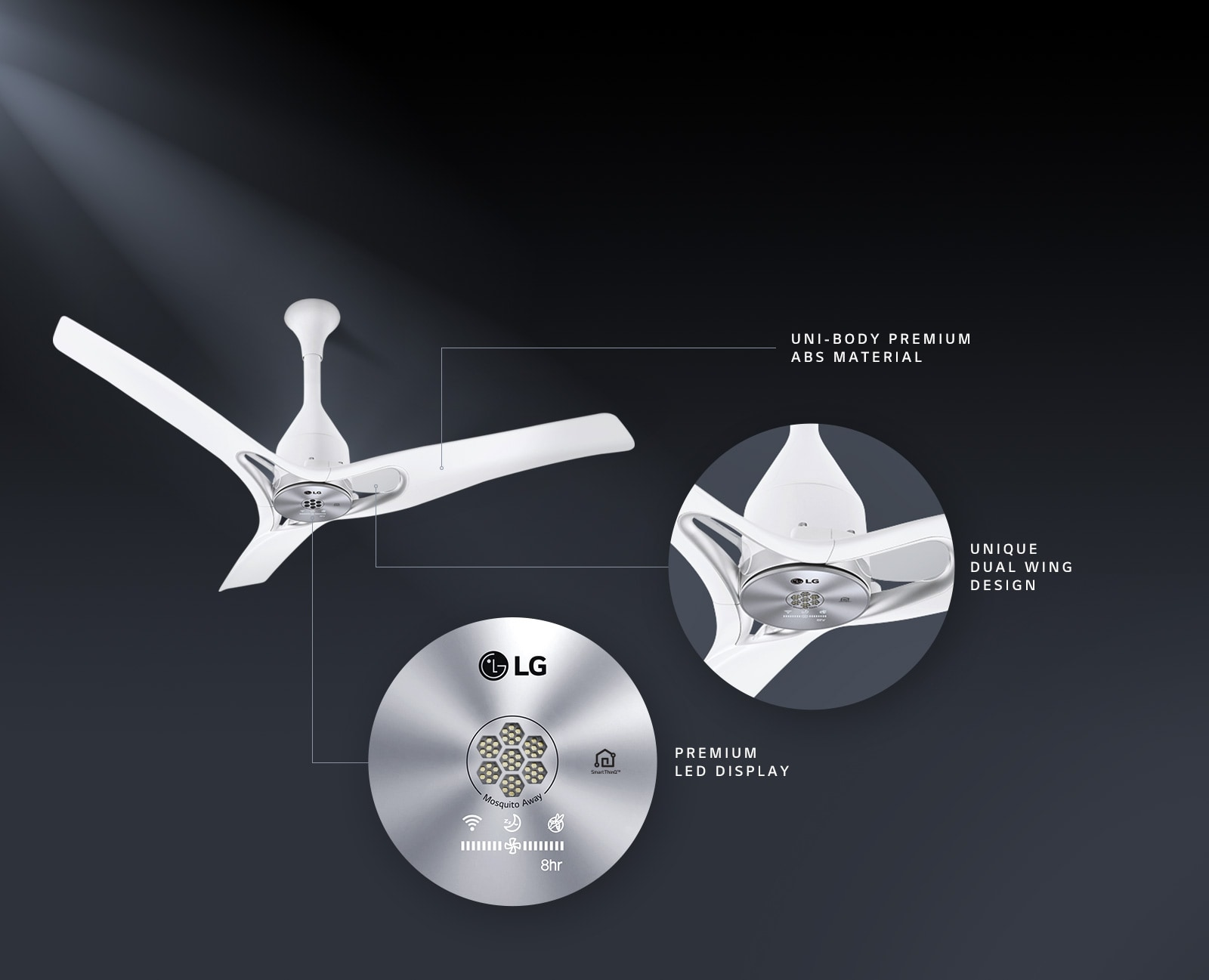Lg Fc48gswa0 Ceiling Fan With Dual Wings Lg India