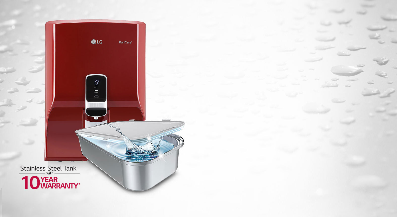 LG Water Purifier With Dual Protection Stainless Steel Water Tank