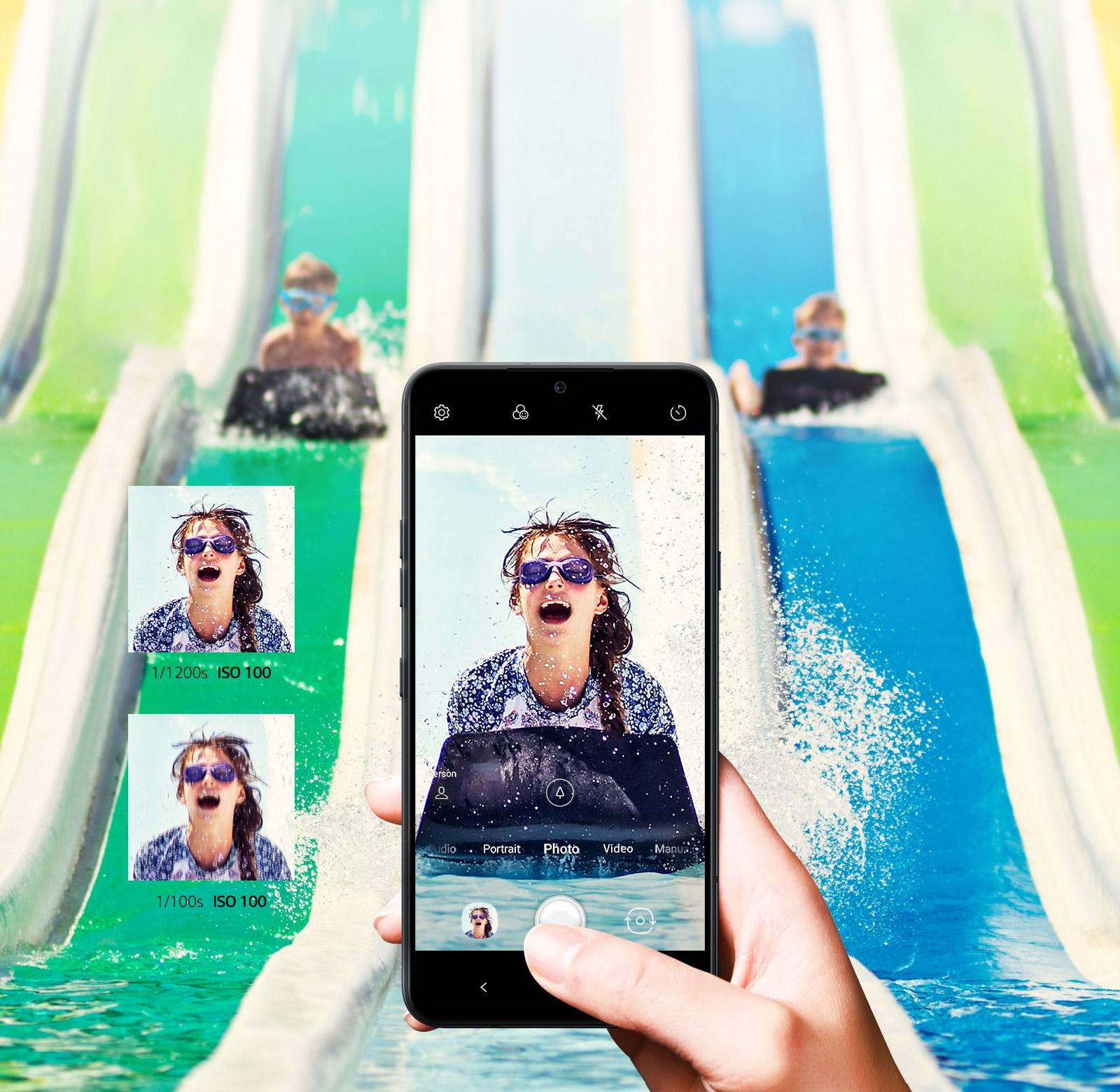 LG G8XThinQ dual screen AI Action Shot