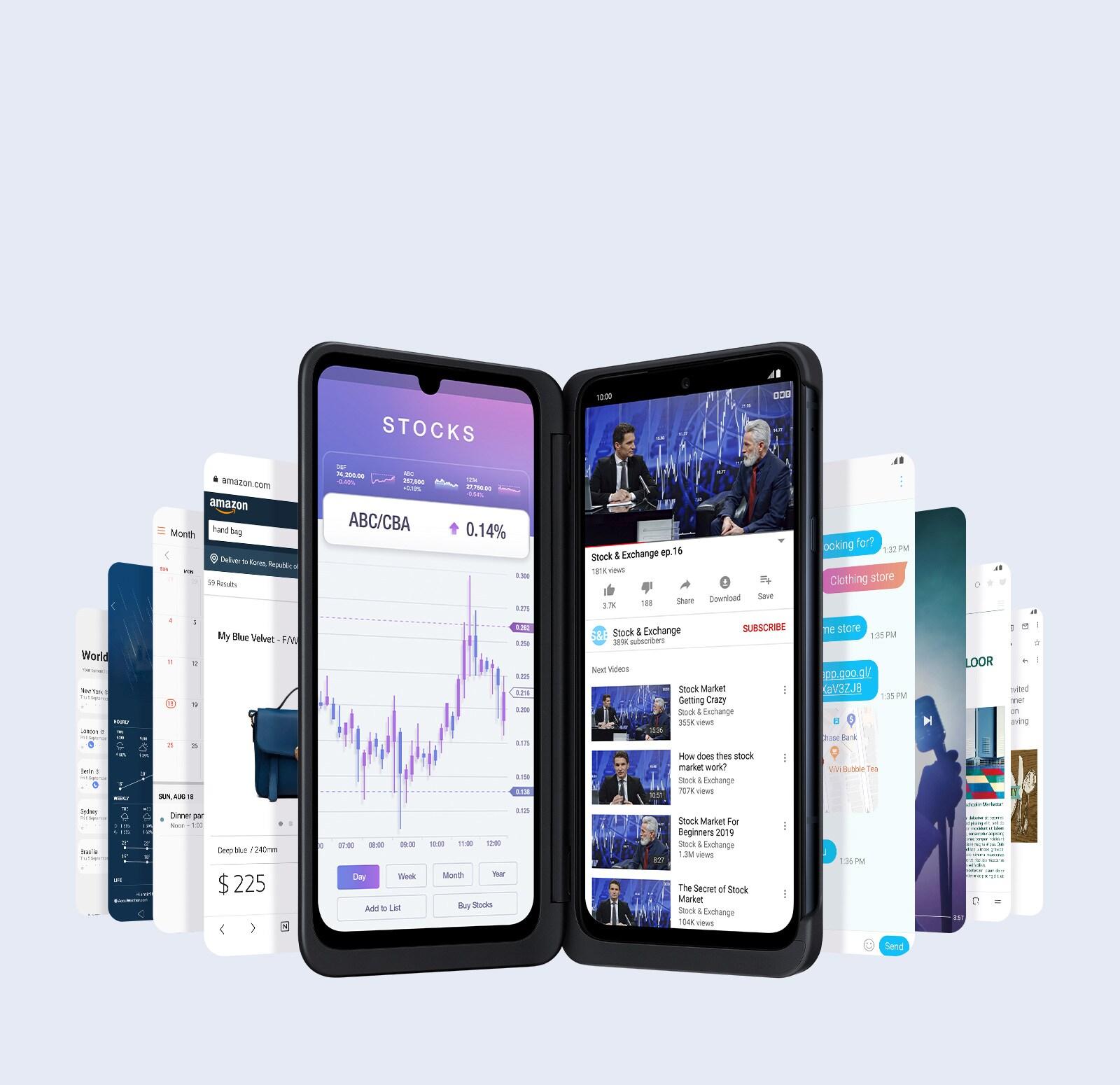 LG G8XThinQ dual screen Diverse Multitasking