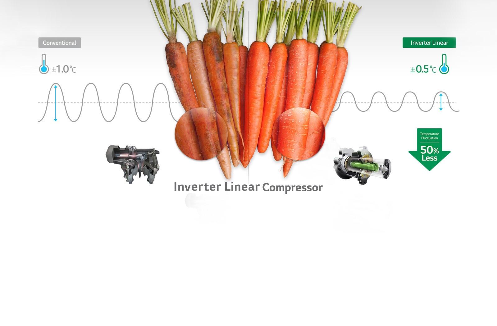 LG GL-T372JRS3 335 Ltr Inverter Linear Compressor
