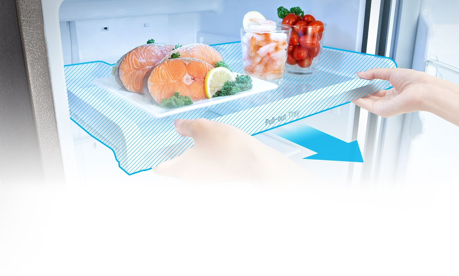 LG GL-T372JPZN 335 Ltr Pull-out Tray