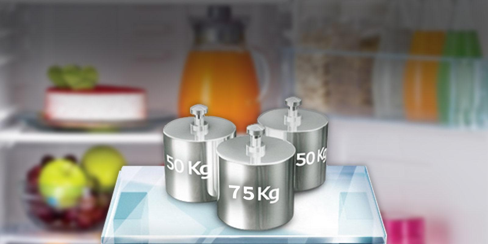 LG GL-B221ASCY 215 ltr Spillproof toughened glass shelves