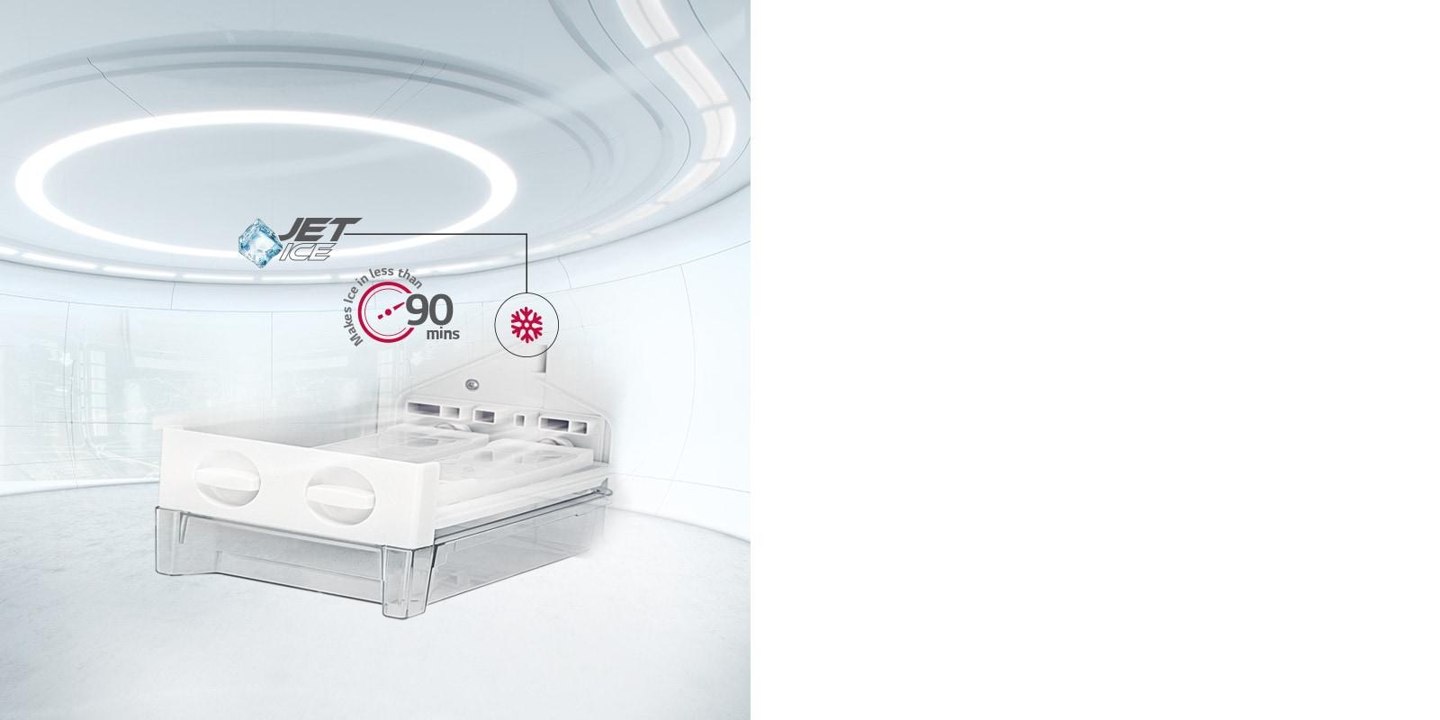 LG Jet Ice Double Door Refrigerator