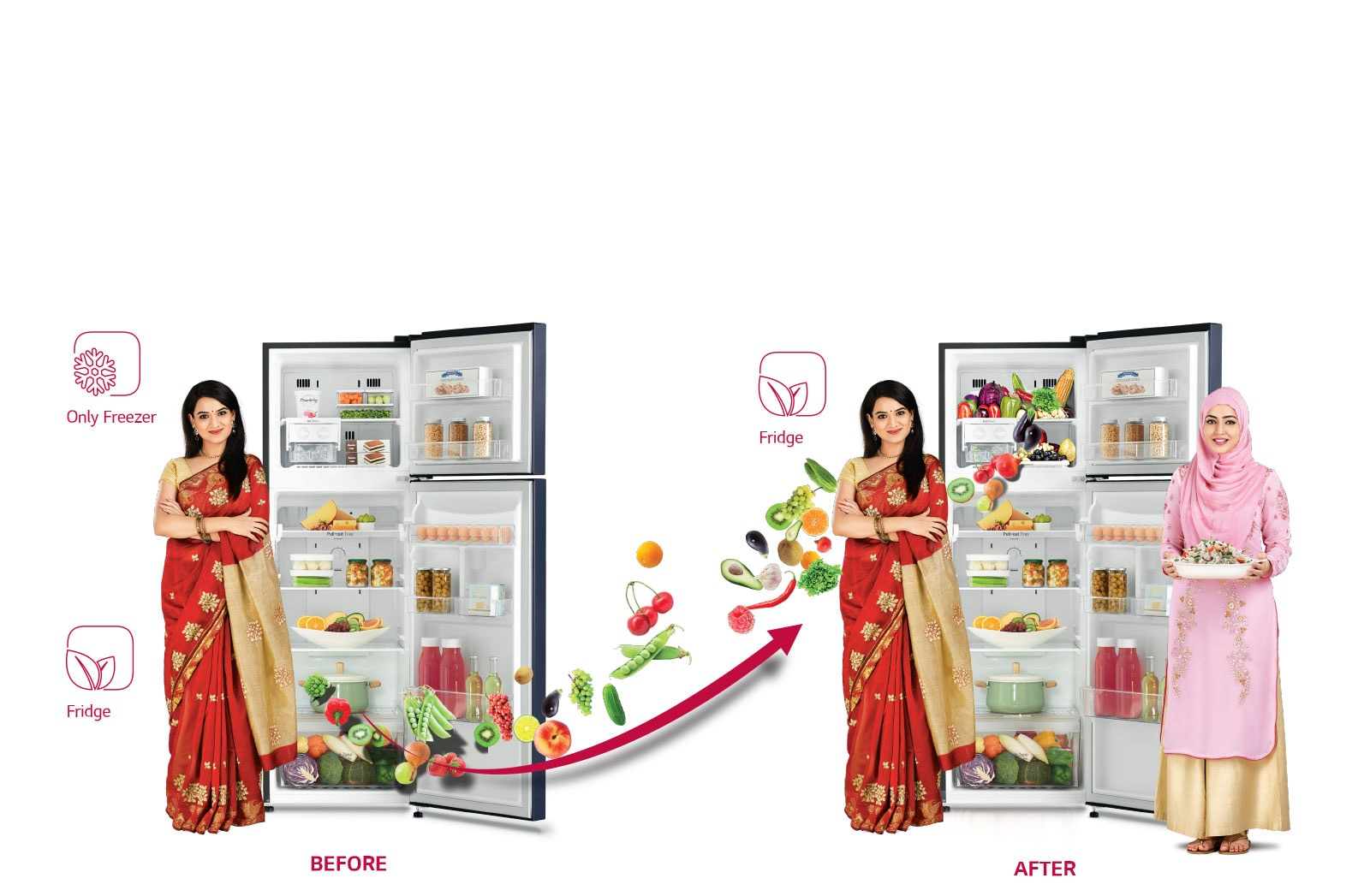 LG Dual Fridge™ Double Door Refrigerator