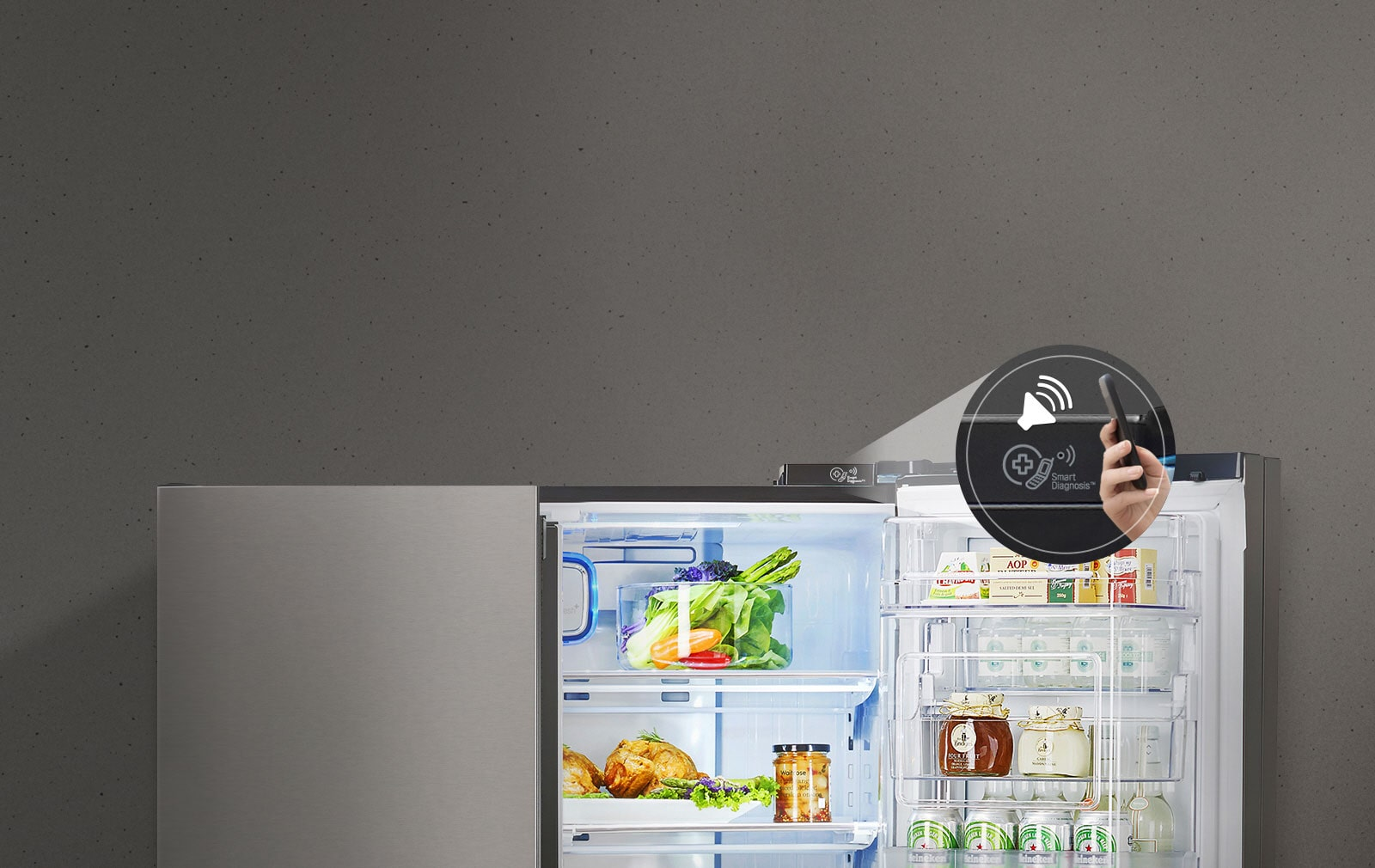 LG Double Door Fridge With Smart Diagnosis