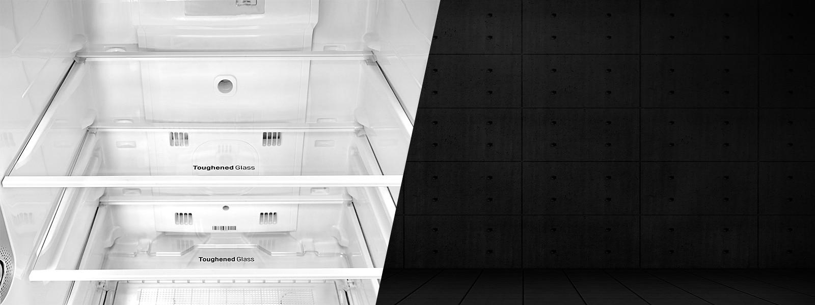 LG Toughened Glass Shelves Double Door Refrigerator