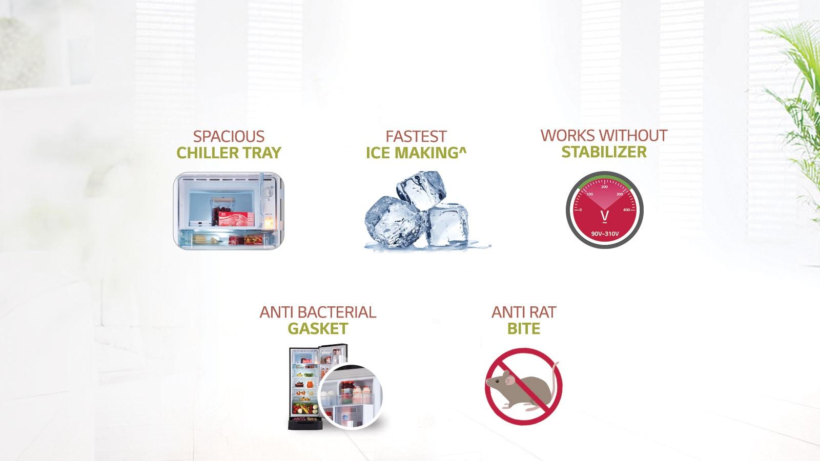 LG Single Door Refrigerator Other Key Features
