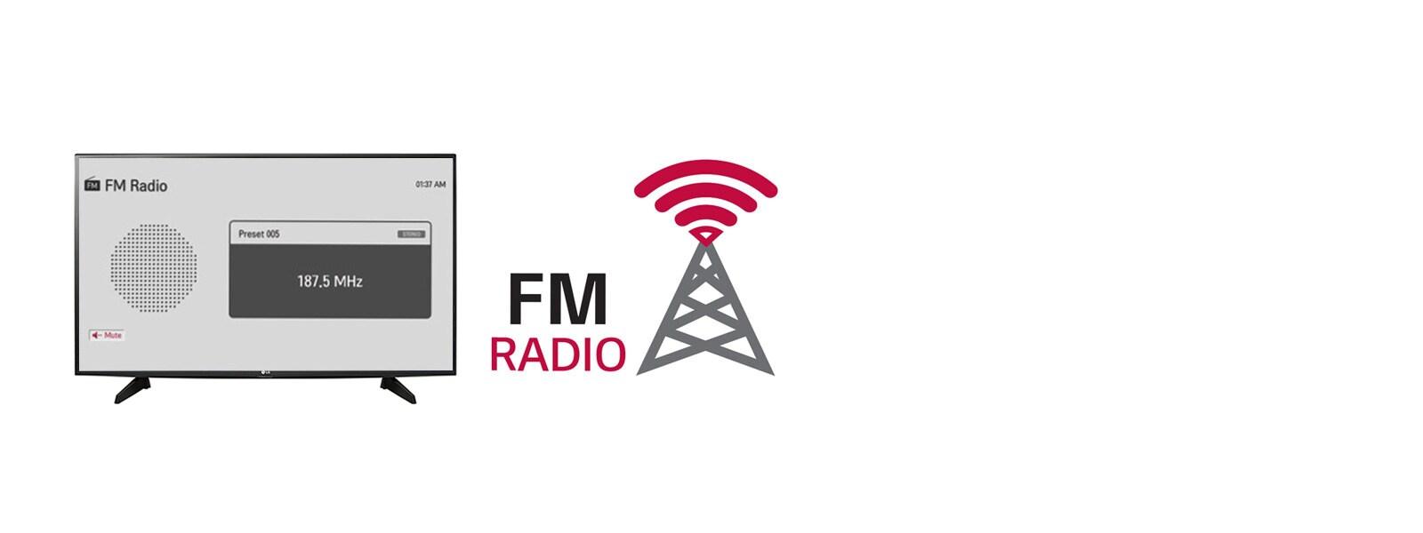 LG FM Radio LED TV