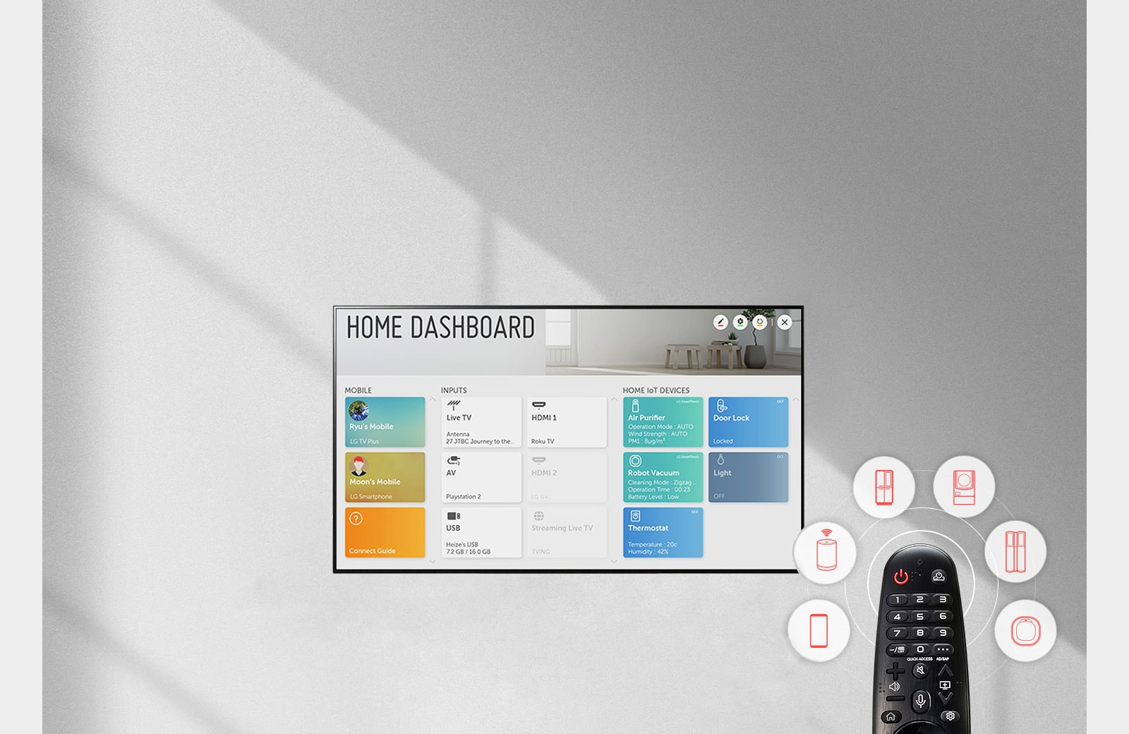LG Home Dashboard OLED TV