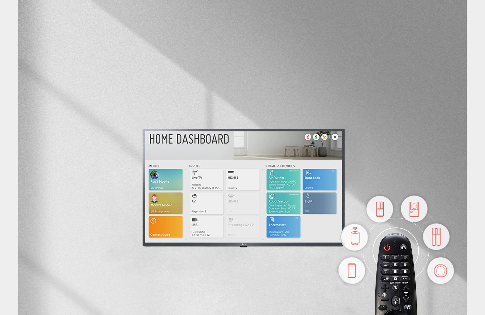 LG Ultra HD TV Home Dashboard