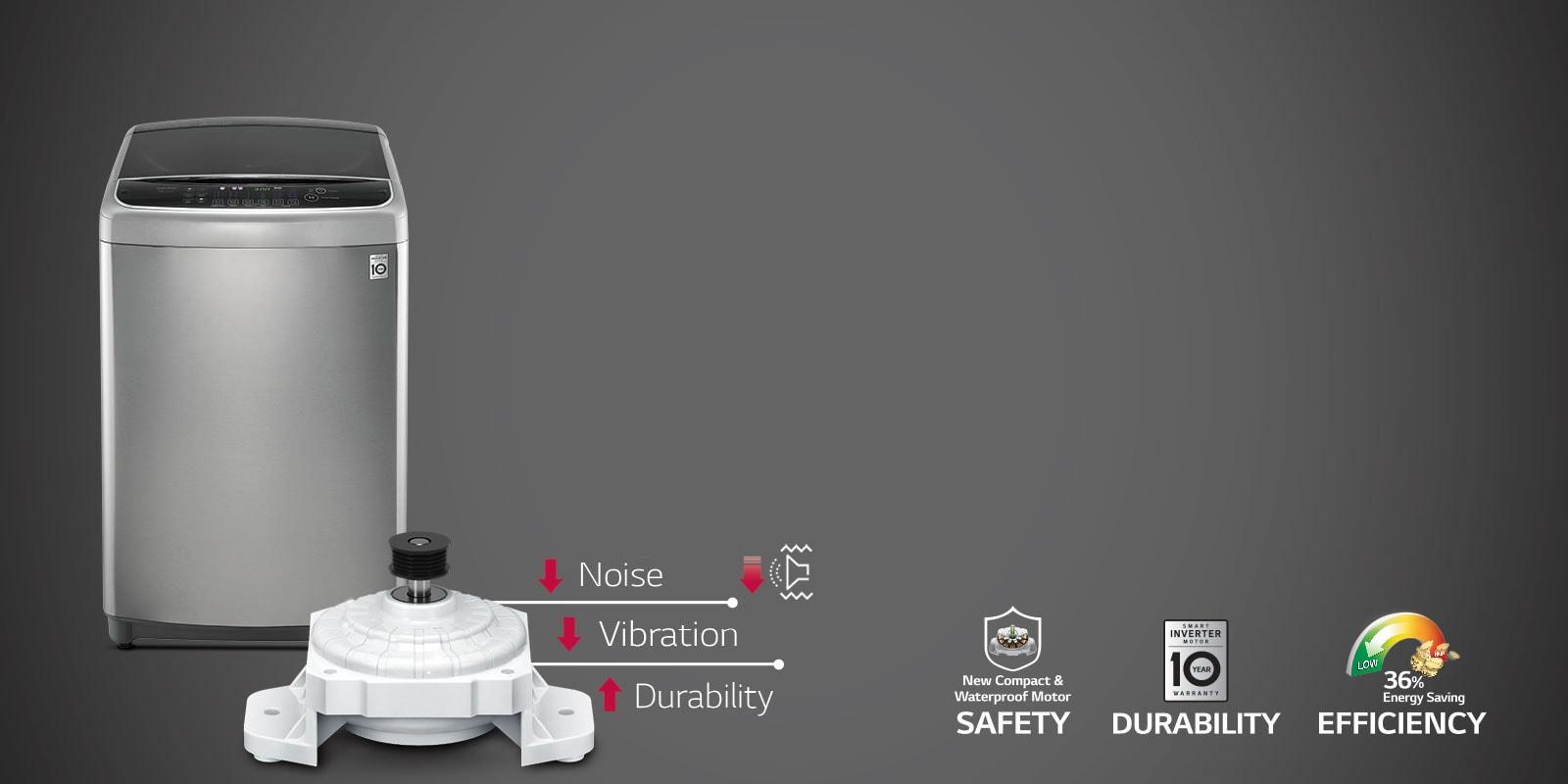 LG T65SJSF3Z 6.5 kg Smart Invertor Technology
