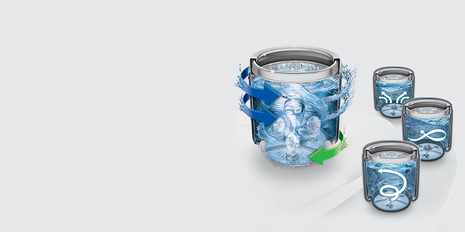 LG T65SJBK1Z 6.5 kg Smart Motion and TurboDrum