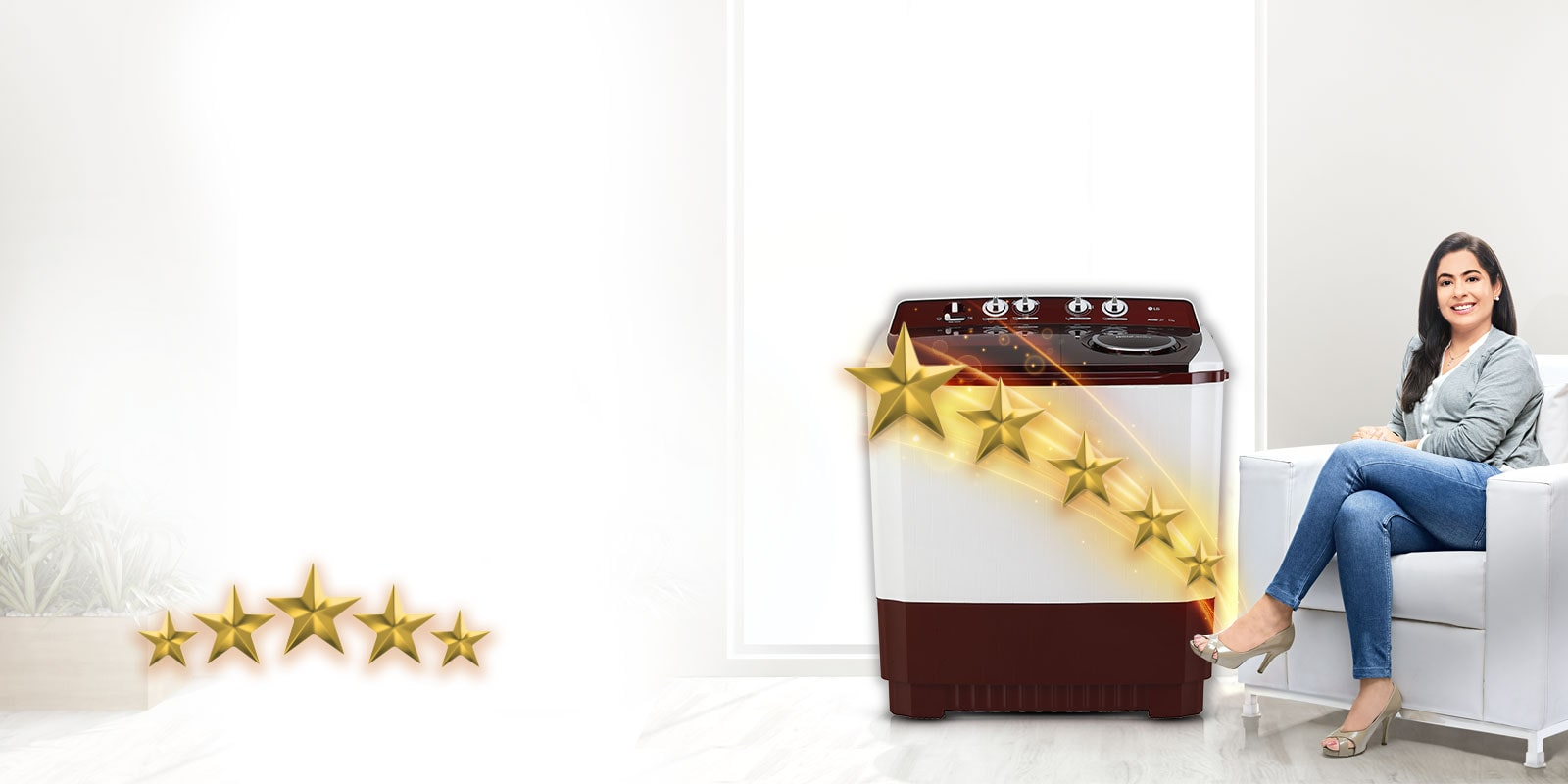 LG 5 Star Semi Automatic Washing Machine