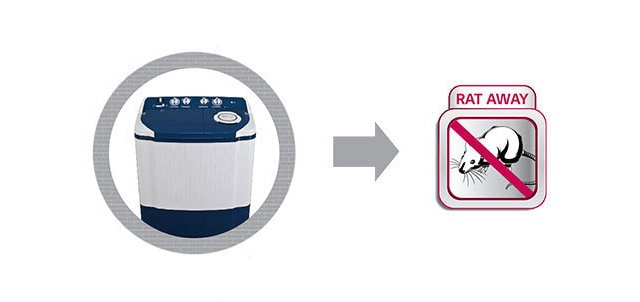 LG Semi Automatic Washing Machine with Rat Away Technology