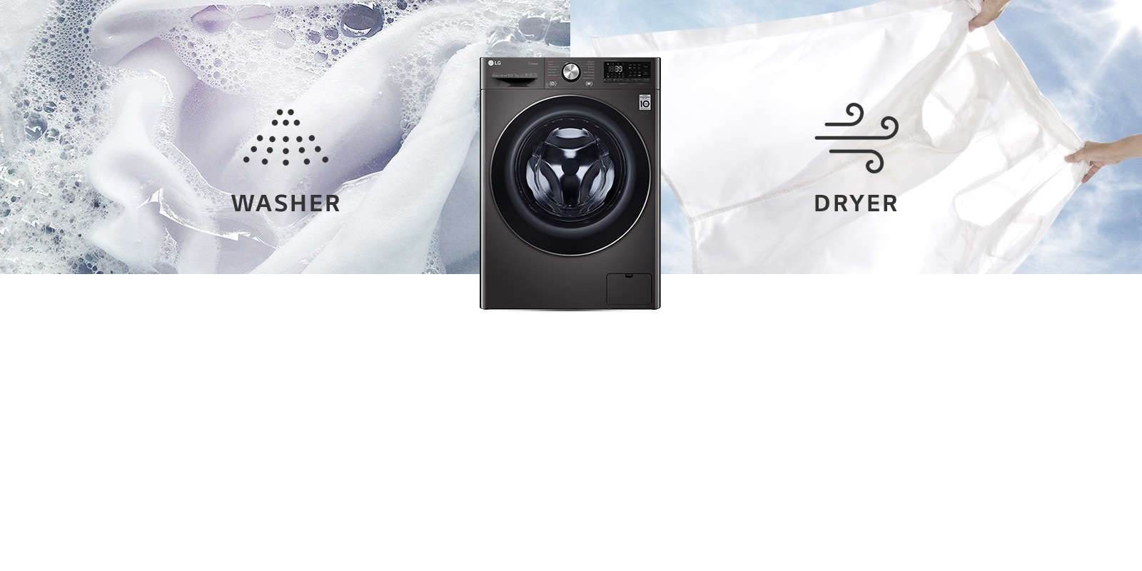 LG FHD1057STB Washer Dryer combos