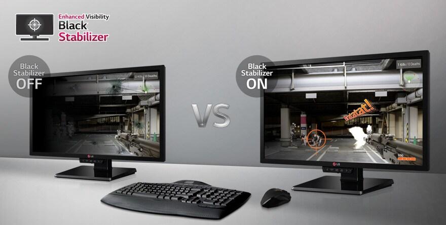 Black Stabilizer to enhance gamer visiblity in dim light