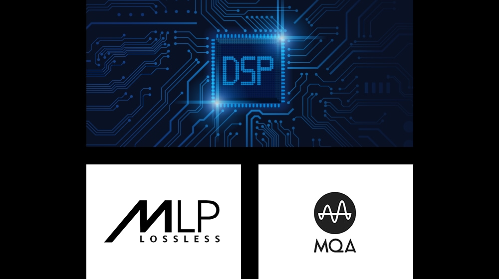 "There are 3 images. An image of a semiconductor chip with a ""DSP"" text on it. An image of the ""MLP"" logo. An image of the ""MQA"" logo"