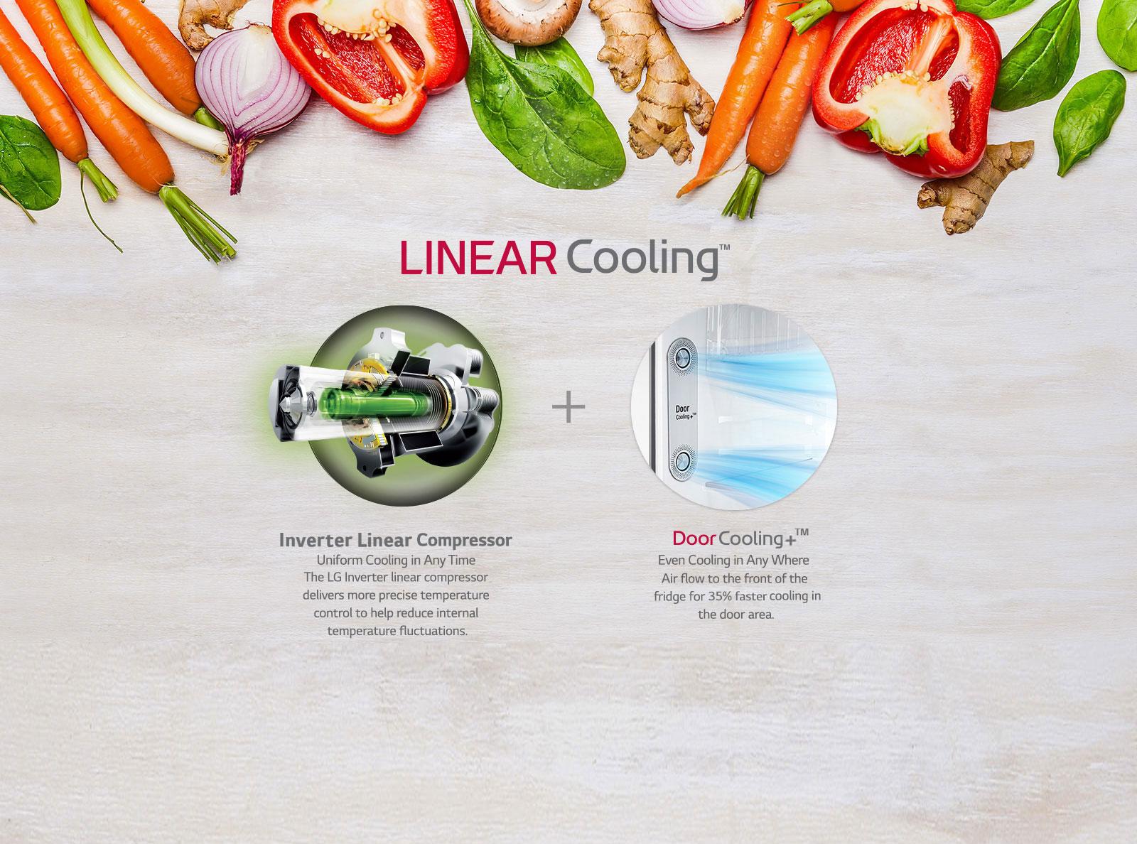 LG GN-H602HLHQ 516 Ltr Linear Cooling