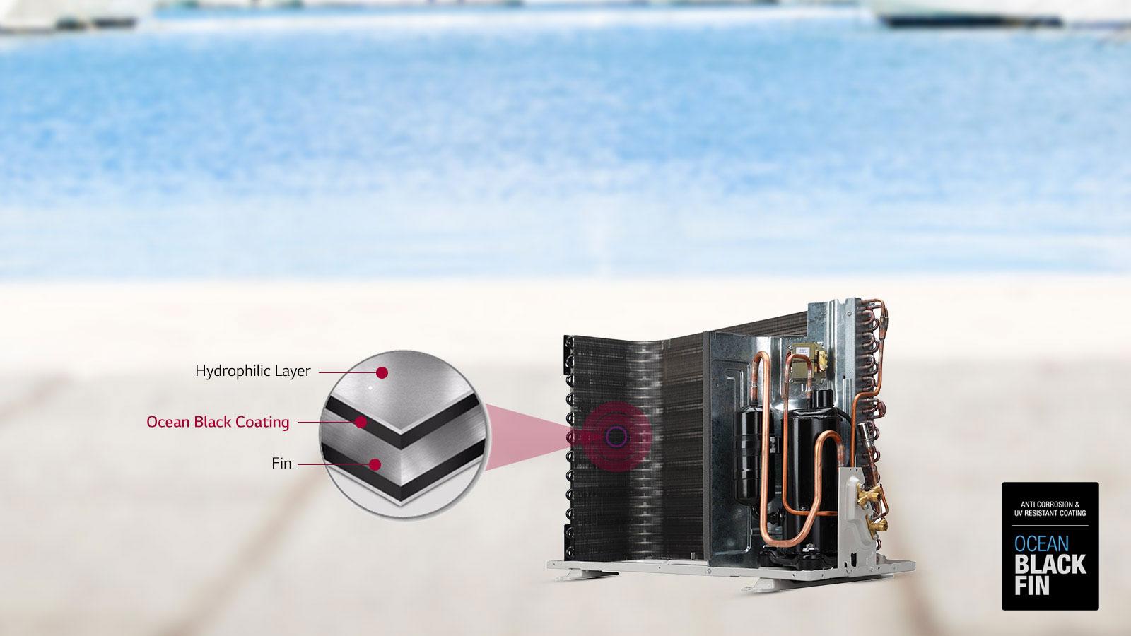 LG LS-H12VNXD Ocean Black Fin