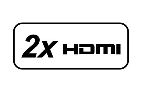 Twin HDMI ports