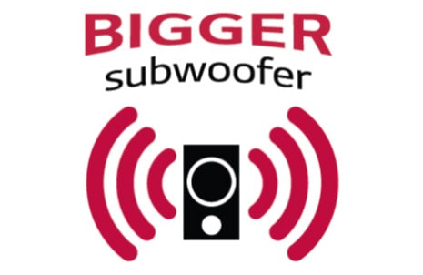 Deep Bass Sound with Big Subwoofer
