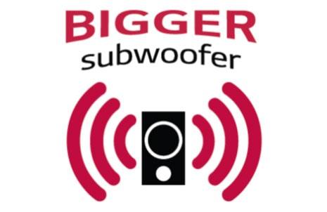 Deep Bass Sound with Big Subwoofer