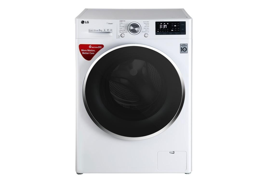 LG FHT1408SWW 8Kg Front Loading Washing Machine, TurboWash Technology | LG  India