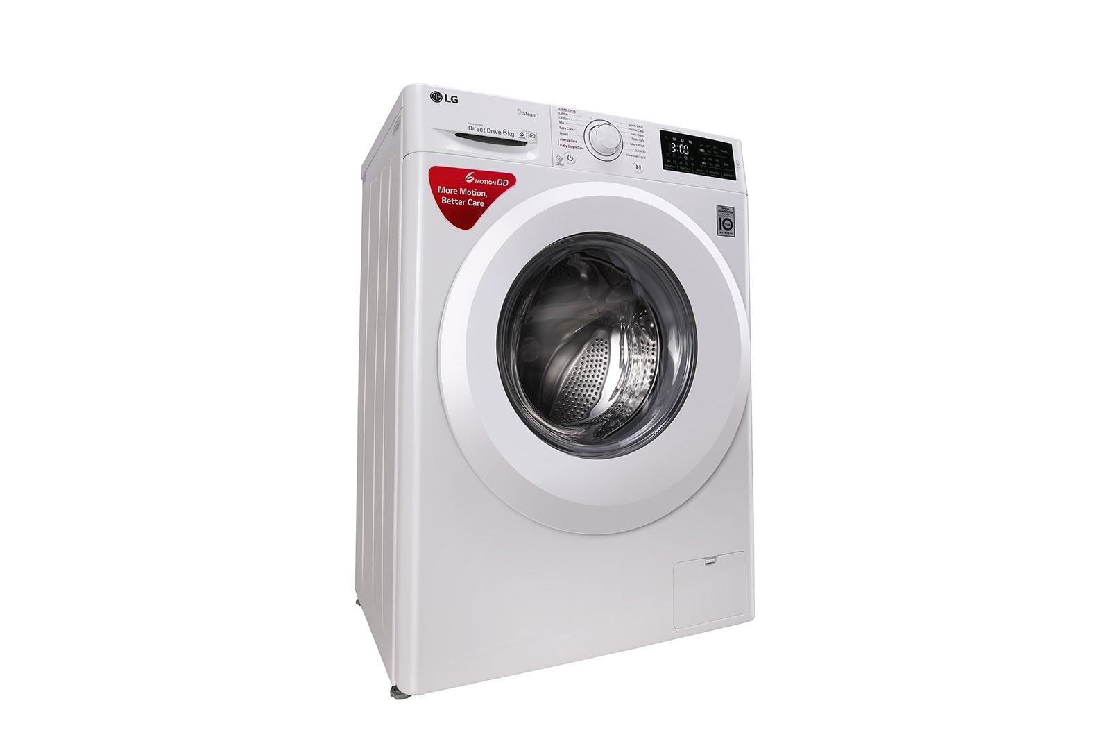 LG FHT1006HNW 6 Kg Front Loading Washing Machine, Steam™ Technology on