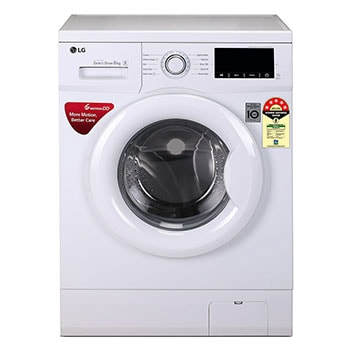 6.0 Kg, 6 Motion Direct Drive Washer, Touch Panel, White, Smart Diagnosis™, Baby Care1