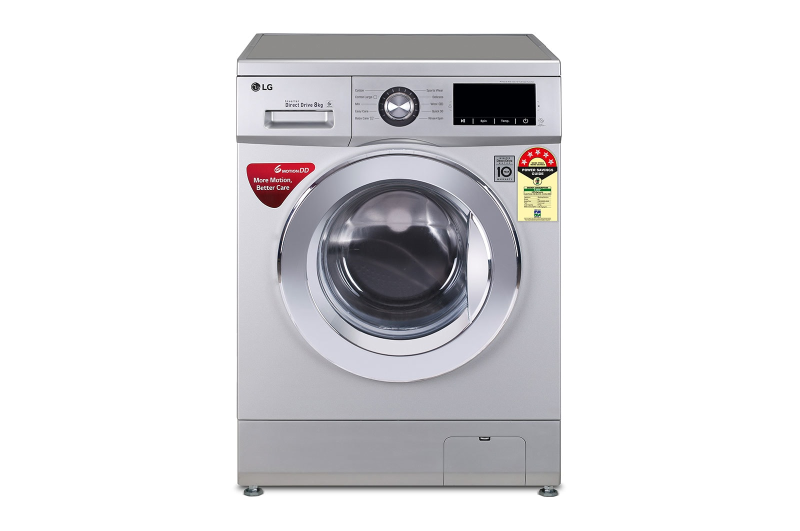 LG 8.0 Kg, 6 Motion Direct Drive, Touch Pane