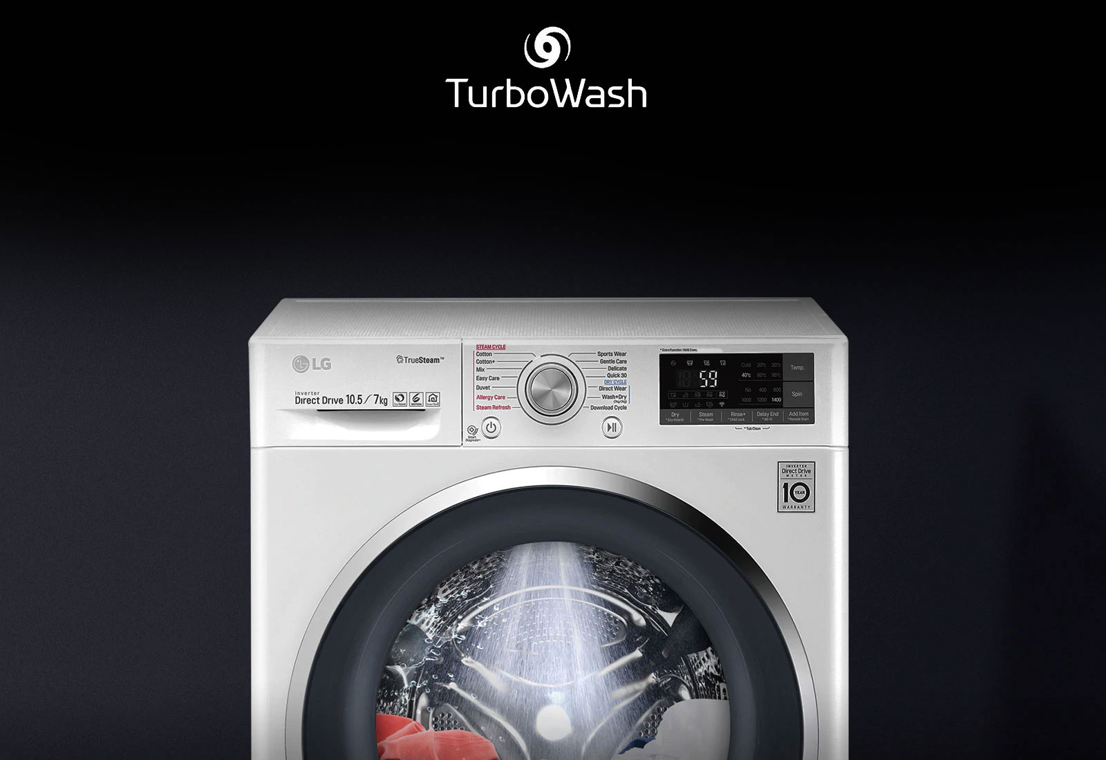 LG FHV1409ZWB Turbo wash