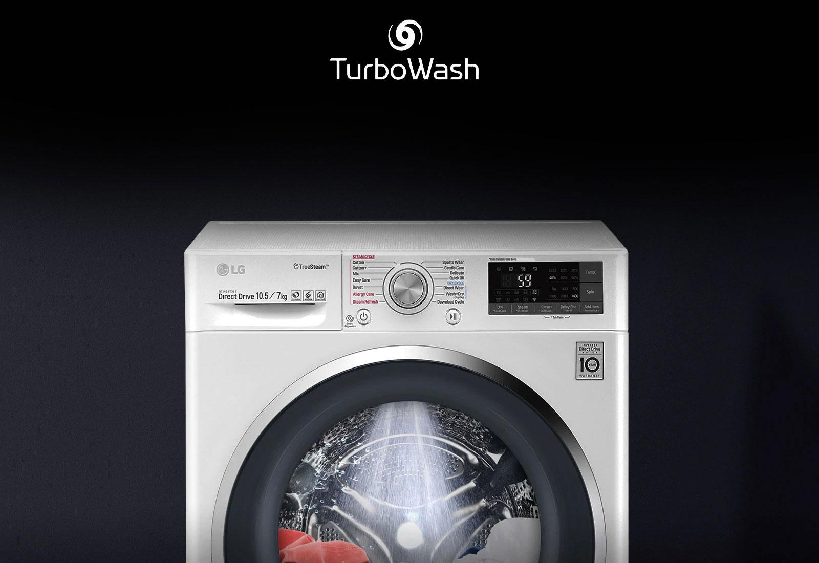 LG FHV1408ZWB Turbo Wash