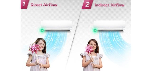 02 Smart Comfortable Airflow کولر گازی ال جی 12000 مدل Next Plus II NP127SK1