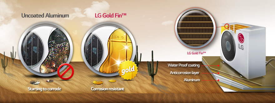 03 Gold FinoG1 کولر گازی ال جی 12000 مدل Next Plus II NP127SK1