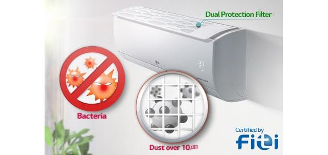 05 Dual Protection Filter کولر گازی ال جی 12000 مدل Next Plus II NP127SK1
