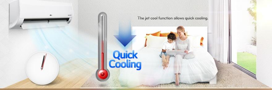 09 Jet cool کولر گازی ال جی 12000 مدل Next Plus II NP127SK1