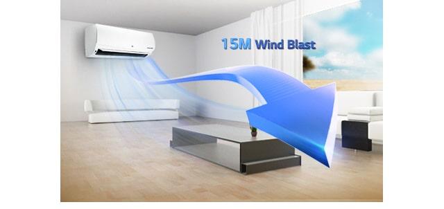 قدرت پرتاب باد تا 15 متر