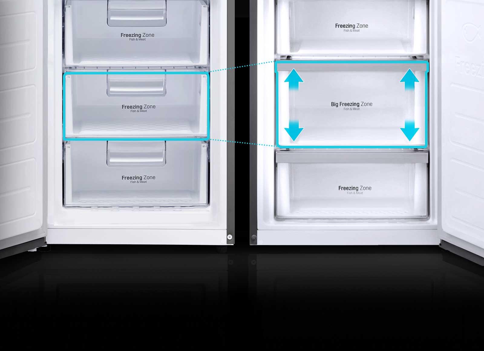 lg frigorifero cassetto maxi spazio