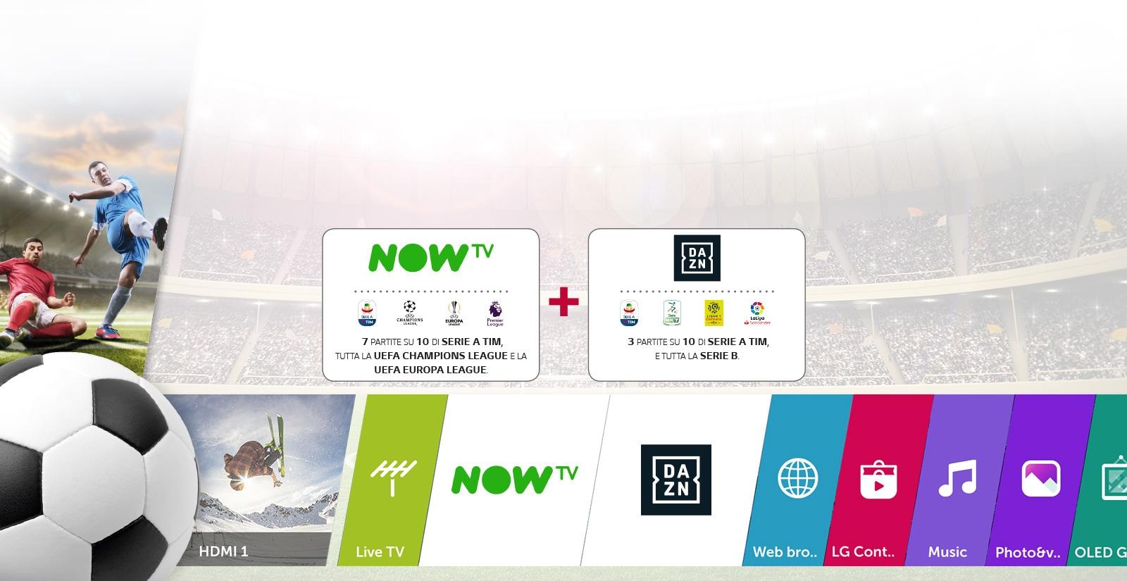 Tutto il calcio con le SMART TV LG