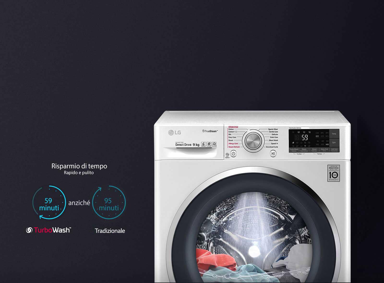 programmi lavaggio lg