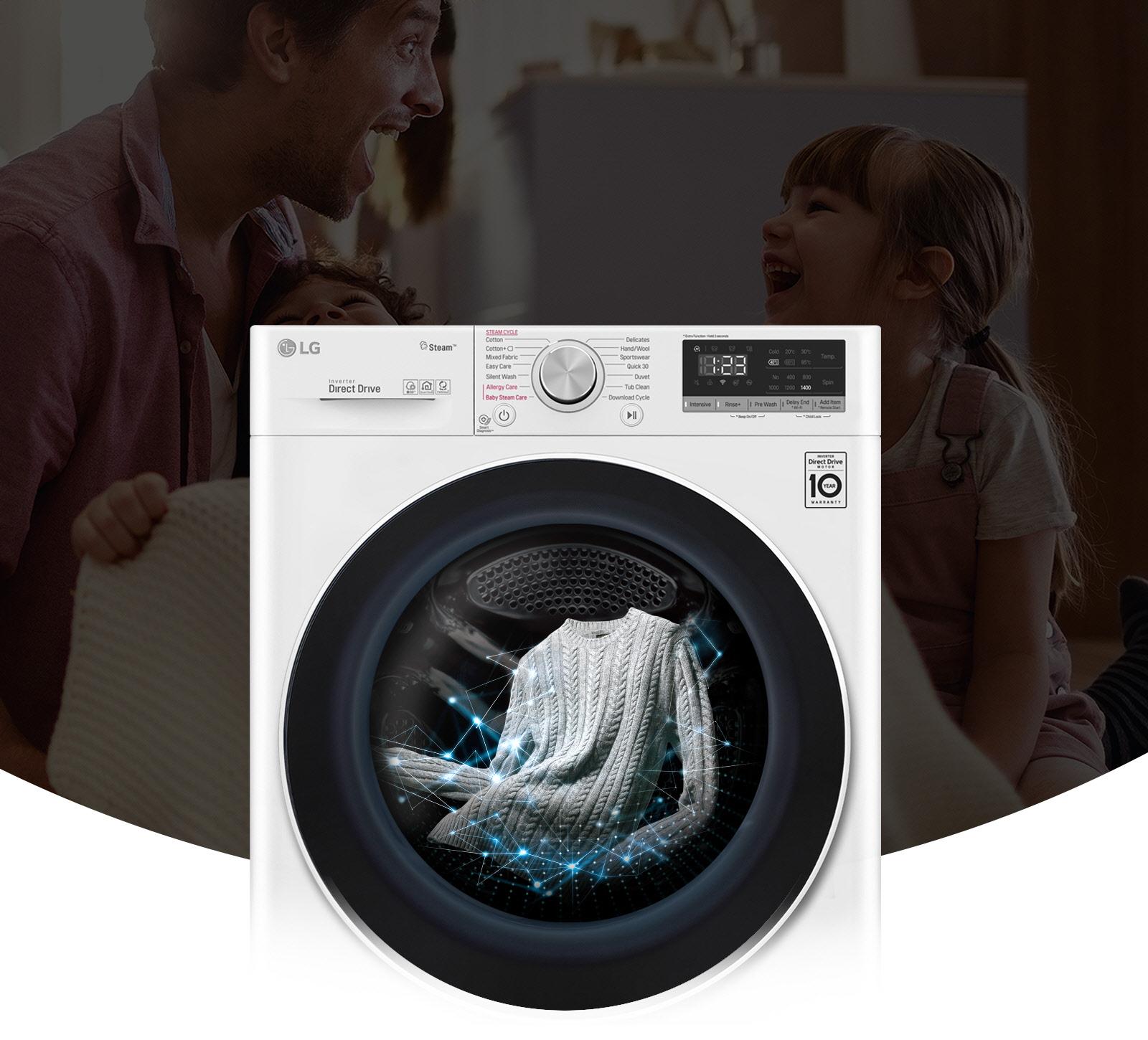 Lavaggi intelligenti, 18% in più cura dei tessuti1