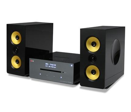 sistema micro audio lg cm2630b casse in fibre di aramide. Black Bedroom Furniture Sets. Home Design Ideas