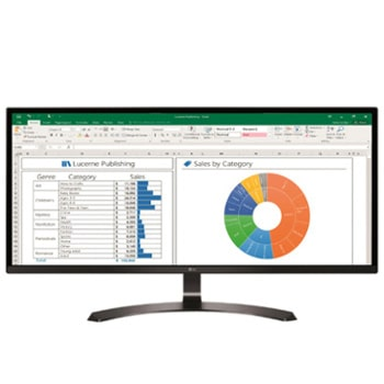 "LG Monitor PC IPS 34"" 21:9 Full HD Piatto1"