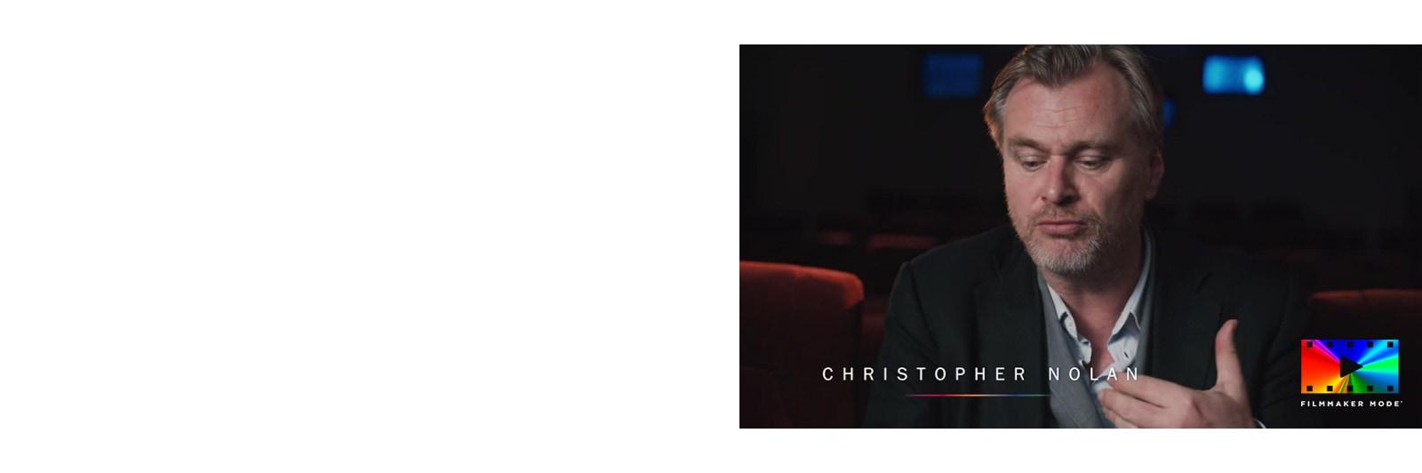 Video di un'intervista a Christopher Nolan