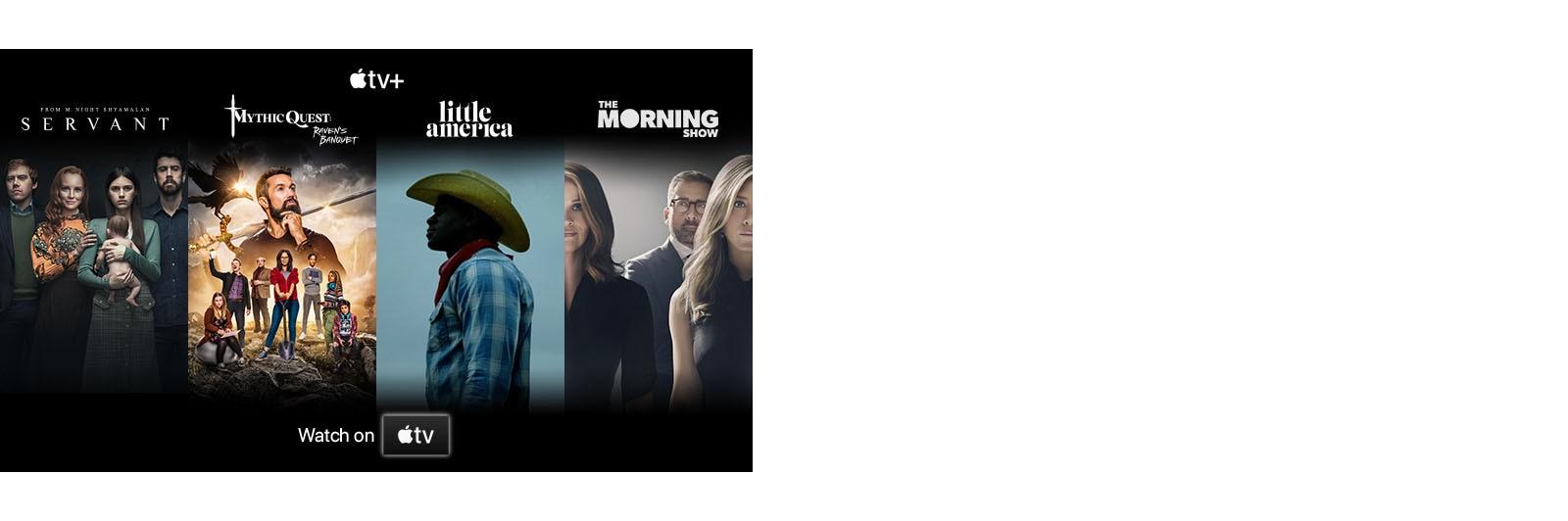 Anteprime dei 4 principali titoli di Apple TV+